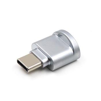 Przenośny Min Stop cynkowy Micro USB Micro SD OTG czytnik kart pamięci USB 3 1 typ C czytnik kart adapter OTG do notebooka tanie i dobre opinie S SKYEE Karty TF Zewnętrzny TF Card reader TYPE-C 23*16*10mm Zinc alloy Silver