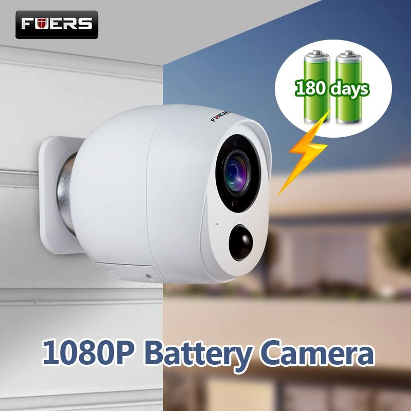 Fuers Outdoor IP Camera HD 1080P Battery Camera WiFi Wireless Surveillance Camera 2MP Home Security PIR Alarm Audio Low Power