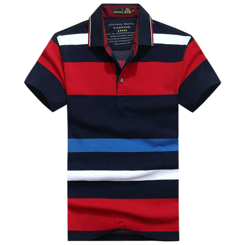 브랜드 스트라이프 폴로 셔츠 남성 탑 & 티셔츠 여름 코튼 통기성 폴로 파라 hombre 캐주얼 Camisa 폴로 masculina M-3XL