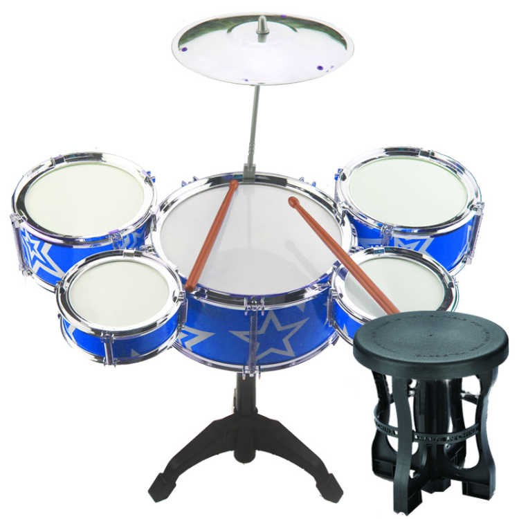 Джазовый барабанный Набор Мини пять модель в форме барабана игрушечный джазовый барабан ударный инструмент игрушечный барабан Музыкальны... - 3