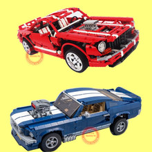 New 2000PCS MOC Technic Racing Car Creator Creative Fit Ford Mustang Muscle City Building Block Bricks Toys Kid Gift