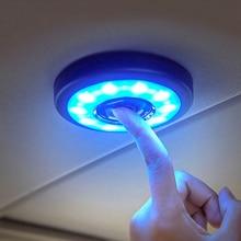 цена на 1PCS USB Car Interior Reading Light Roof Lamp LED White Car Styling Night Light Magnet Auto Daylight Trunk Square Dome Vehicle
