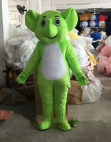 Green Elephant Mascot Costume Suit Cosplay Party Game Fancy Dress Outfit Halloween Adults Parade Clothing Advertising Animals