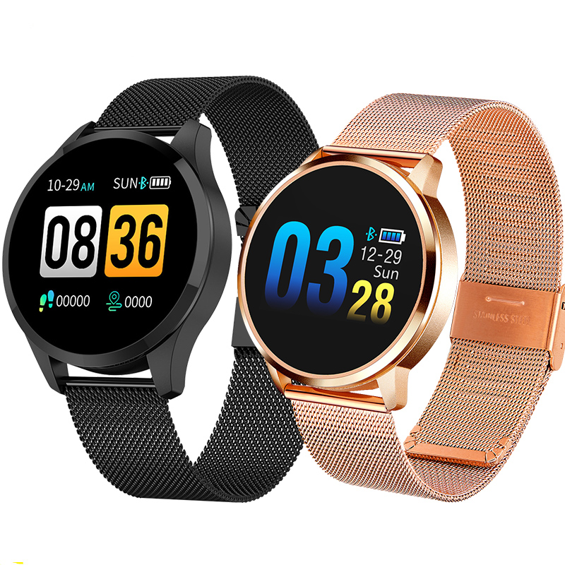Newwear Q8 Q9 Smart Watch Fashion Electronics Men Women Waterproof Sport Tracker Fitness Bracelet Smartwatch Wearable Device