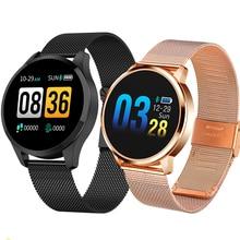 Newwear smartwatch q8 q9 da moda, eletrônico, masculino e feminino, à prova d água, esportivo, rastreador fitness, pulseira, dispositivo vestível