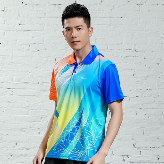V-образная горловина, короткий рукав, форма для настольного тенниса, один топ для мужчин и женщин, летняя одежда для учеников средней школы, студентов средней школы - Цвет: A2621male1