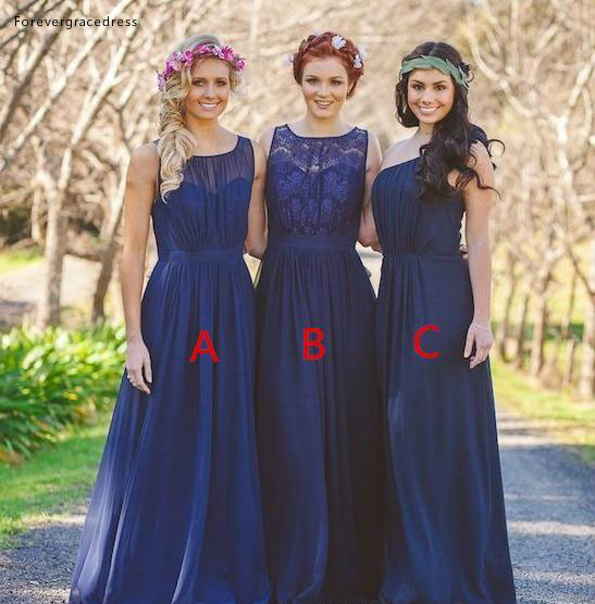 2019 Summer Spring   Bridesmaid     Dress   Royal Blue Country Beach Garden Formal Wedding Party Guest Maid of Honor Gown Plus Size