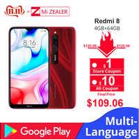 Nuova Versione Globale Xiao Redmi 8 Smartphone 4GB di RAM 64GB ROM Snapdragon 439 10W Veloce di Ricarica 5000 mah Batteria Del Cellulare