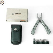 Ganzo Multi Zange G202 24 Werkzeug in Einem Hand Werkzeug Schraubendreher Kit Tragbare Edelstahl multitool falten Falten Messer zangen lange nase