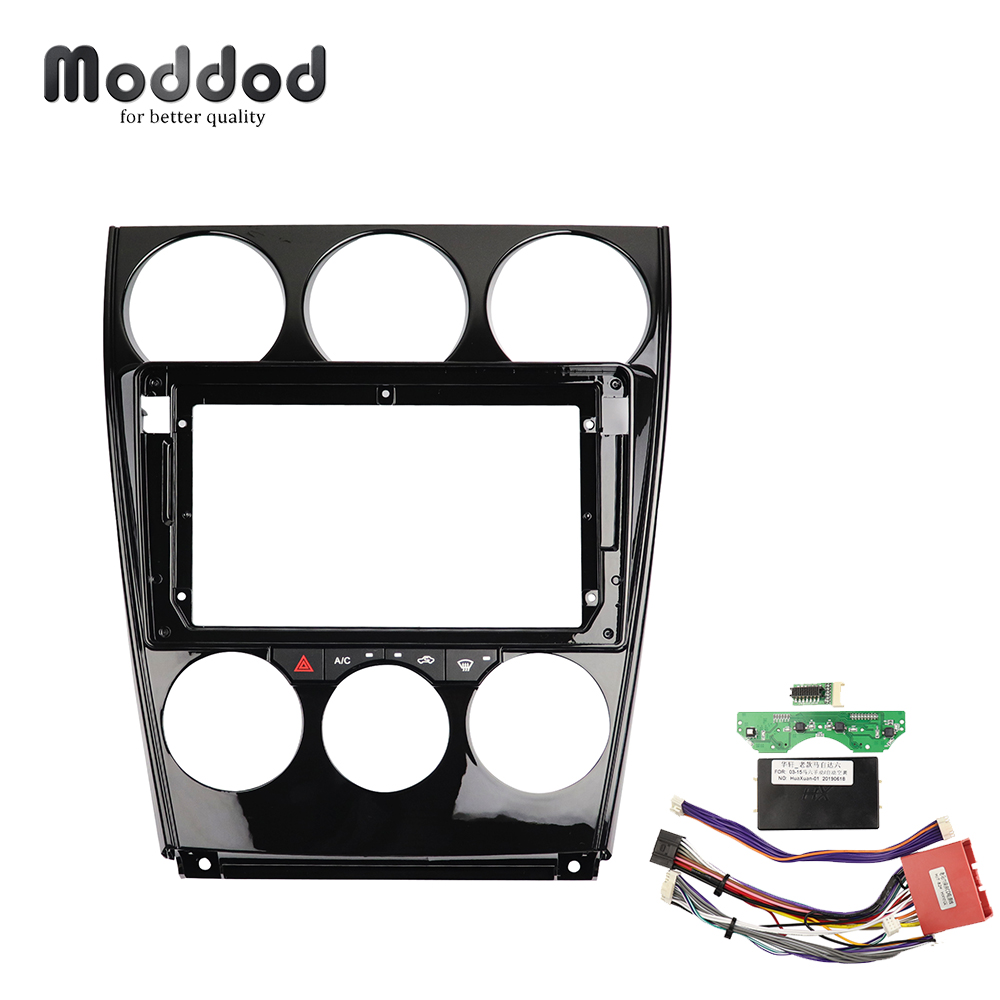 9 inch Car <font><b>Radio</b></font> Fasica for <font><b>Mazda</b></font> <font><b>6</b></font> 2004-2016 CD DVD GPS Bezel Dashboard Installation Trim Refitting <font><b>Kit</b></font> Frame <font><b>Dash</b></font> <font><b>Kit</b></font> Cable image