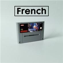 Terranigma fransız dil RPG oyun kartı EUR sürümü İngilizce dil pil tasarrufu