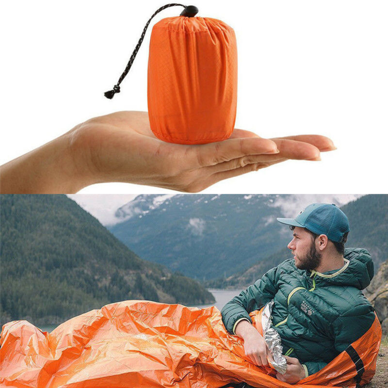Foil Thermal Space First Aid Emergency Survival Sleeping Bag Camping Outdoor Blanket Hiking Gear