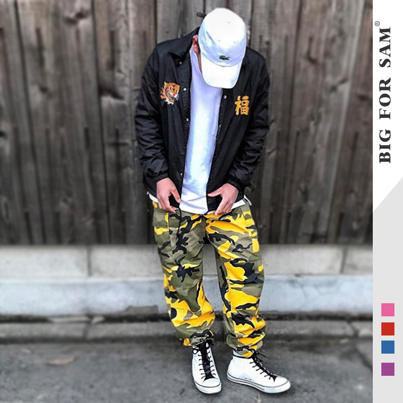 Europe And America Popular Brand Men's Trousers MEN'S Sports Trousers Military Pants Multi-pockets Camouflage Bib Overall Casual