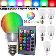 E27 RGB LED Bulb Lights 12V LED Lamp E26 E14 B22 MR16 GU10 Lampada Home Decor Remote Control Light Bulb Colorful Retro bombilla