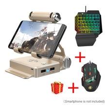 Gamesir x1 battledock teclado mouse conversor bluetooth gamepad para fps jogo de celular como pubg cod aov freefire