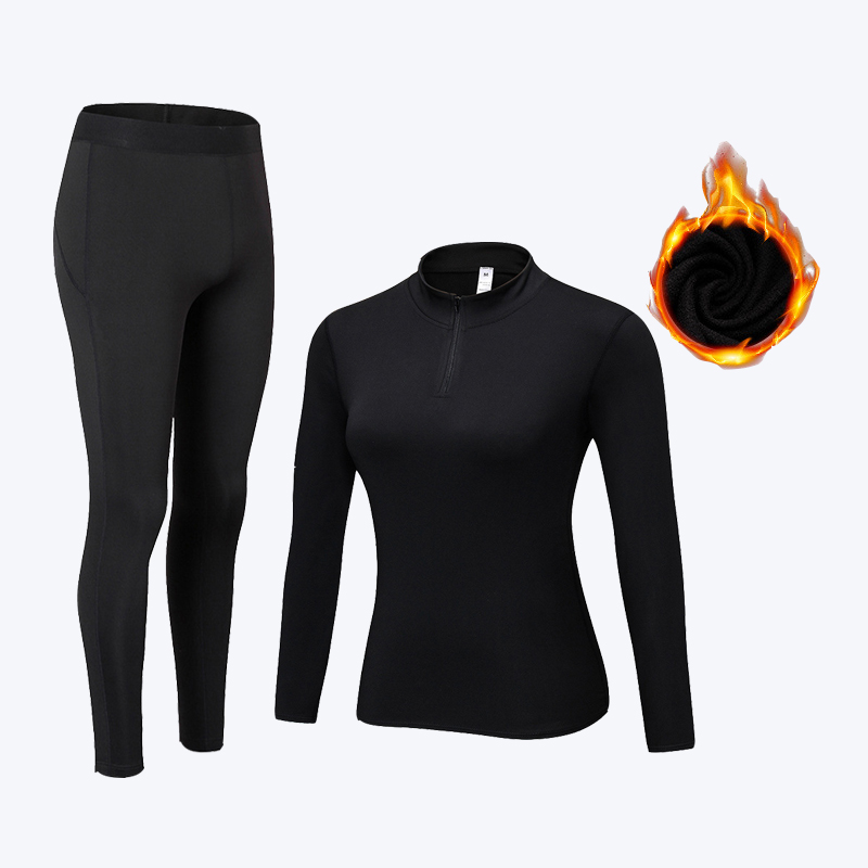 Winter Women's Thermal Underwear Sets Quick Dry Anti-microbial Thermo Underwear Warm Long Johns Clothes