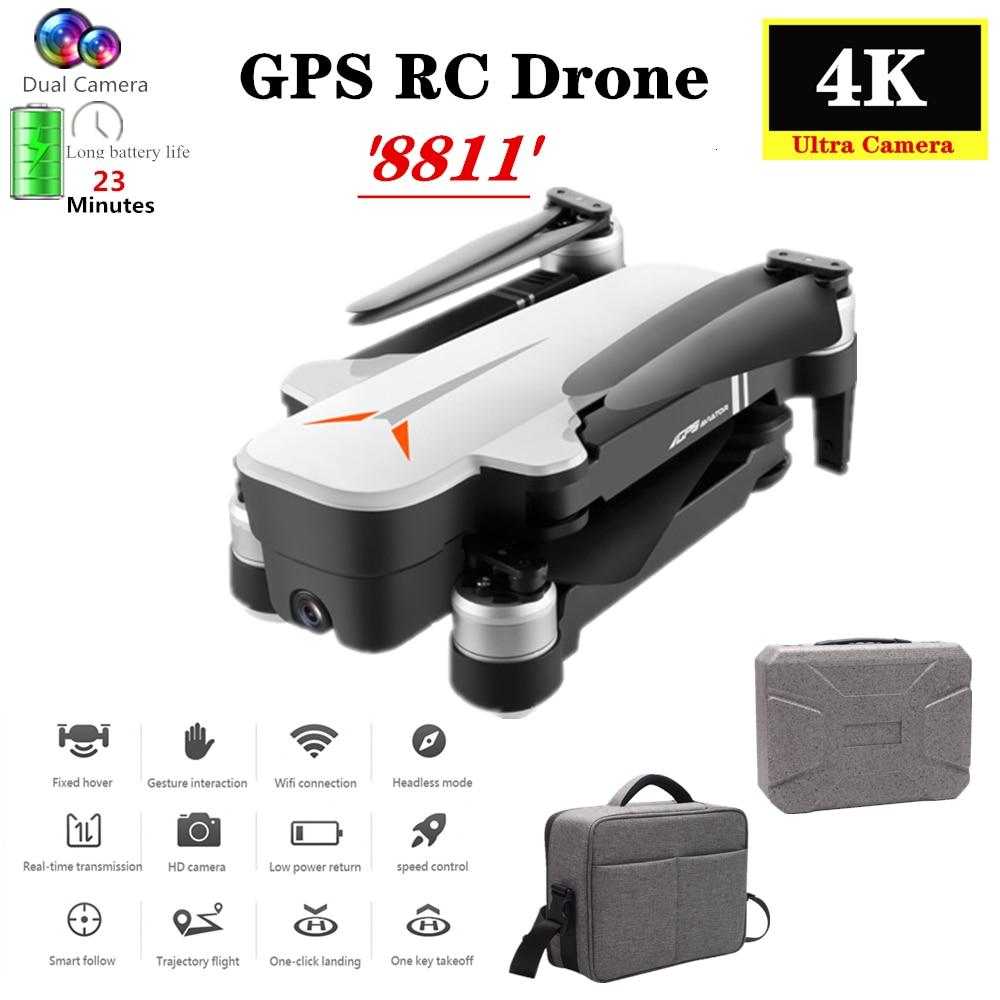 GPS RC Drone mit 5G Wifi 4K HD Dual Kamera Optischen Fluss Folgen Geste Selfie Quadcopter Flug 23 minuten Eders VS F11 B4W SG906