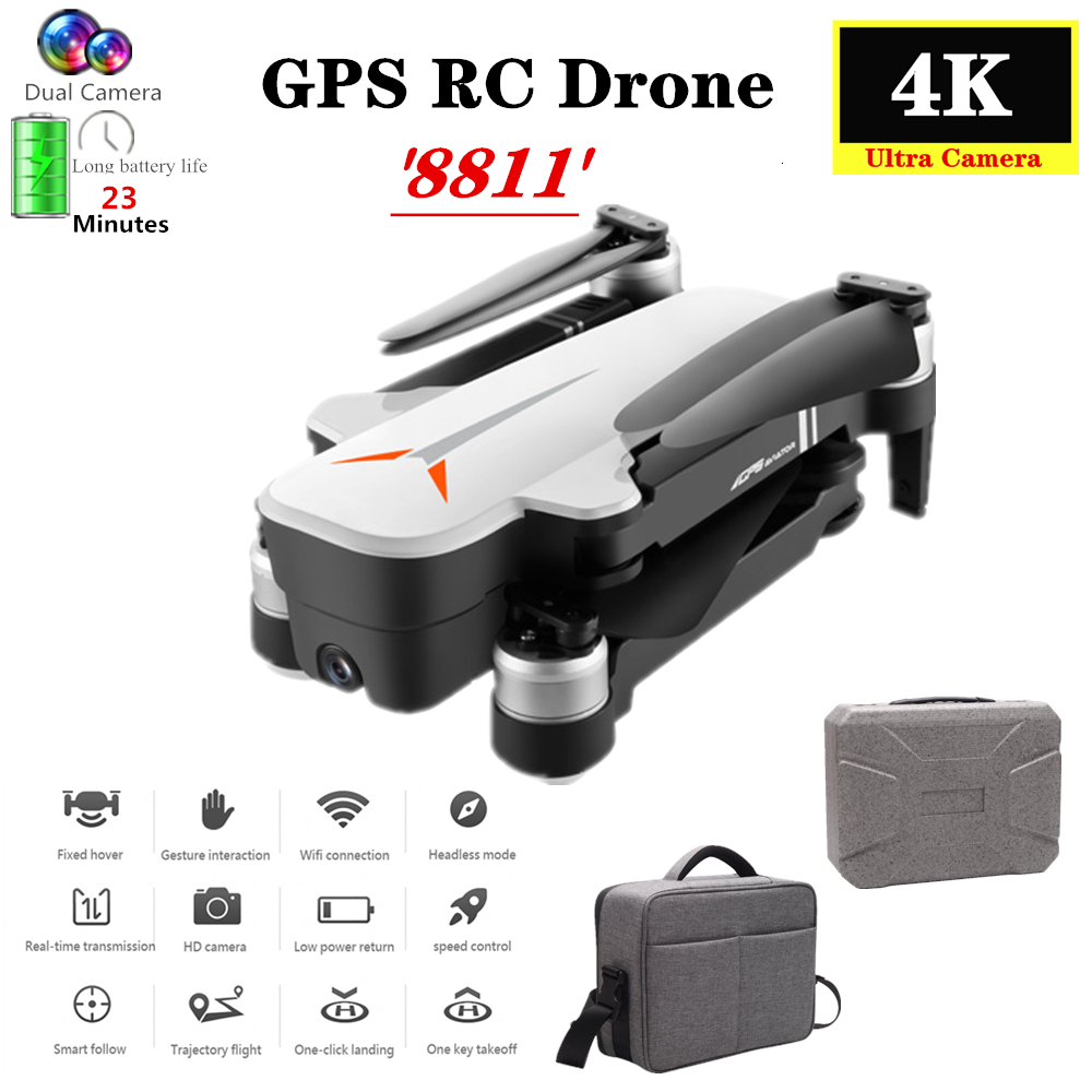 GPS RC Drone with 5G Wifi 4K HD Dual Camera Optical Flow Follow Gesture Selfie Quadcopter Flight 23mins Dron VS F11 B4W SG906