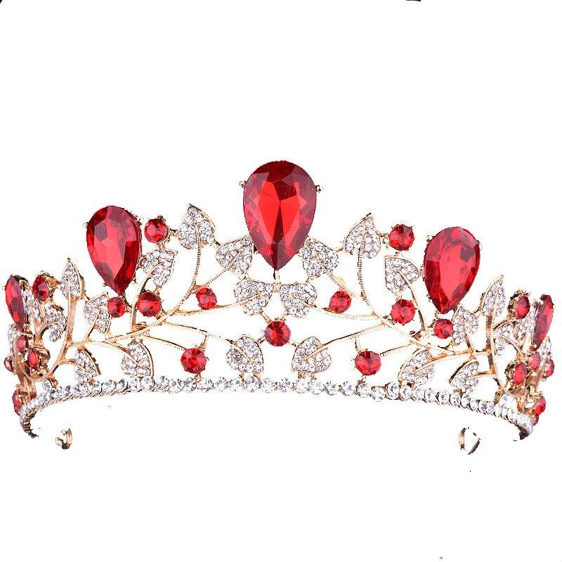 Свадебная Корона невесты стразы из сплава Большая Корона Свадебные ювелирные изделия, корона, тиара свадебное платье аксессуары повязка на...
