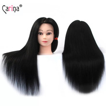 55CM New Fiber Hair Mannequin Head For Hairstyles Female Hairdressing Training Doll Heads
