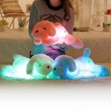 50 CM Plush Toy LED Light Teddy Dog Stuffed Animals Luminous Pillow Baby Sleeping Kids Birthday Gift For Children