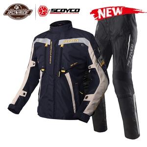 Image 1 - SCOYCO אופנוע מעיל עמיד למים Chaqueta Moto חליפת מוטוקרוס מעיל Moto מירוץ רכיבה מעיל עם הגנה לחורף