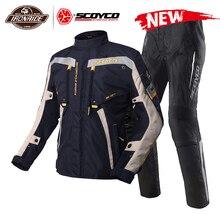 Scoyco motocicleta jaqueta à prova dwaterproof água chaqueta moto terno motocross jaqueta de corrida equitação com proteção para o inverno