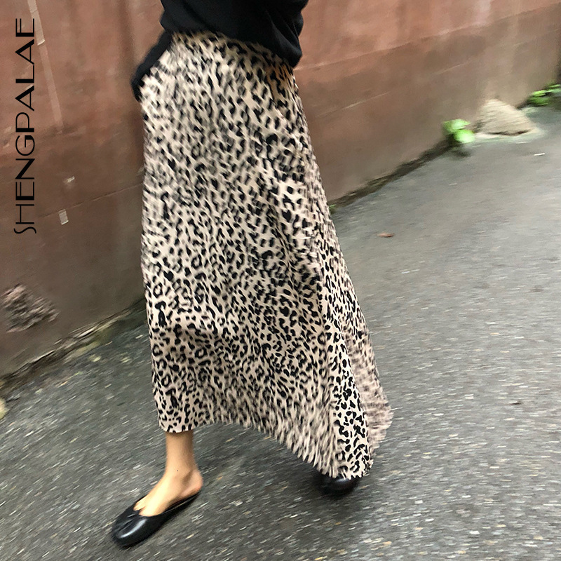 IMucci 2020 New Fashion Autumn Leopard Print Elastic Band Straight Skirt Women Loose High Waist Tide Faldas Mujer Moda TM1386