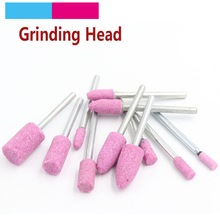цена на 10pcs Polishing Grinding Stone Points Wheel Head Abrasive Mounted Stone Cylindrical For Dremel Rotary Power Nail Drill Bit Tools