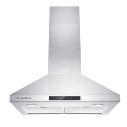 CIARRA CAS75206 Range Hood 30 inch, Stove Vent for Kitchen, Wall Mount Extractor Fan Stainless Steel Touch Control 450 CFM
