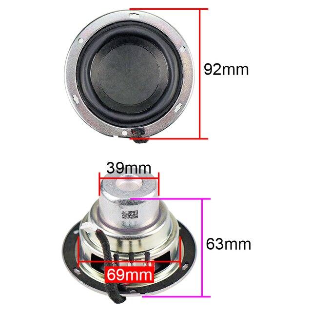 3.5 Inch Woofer Speaker Neodymium Subwoofer 4OHM 30W 2pcs 2