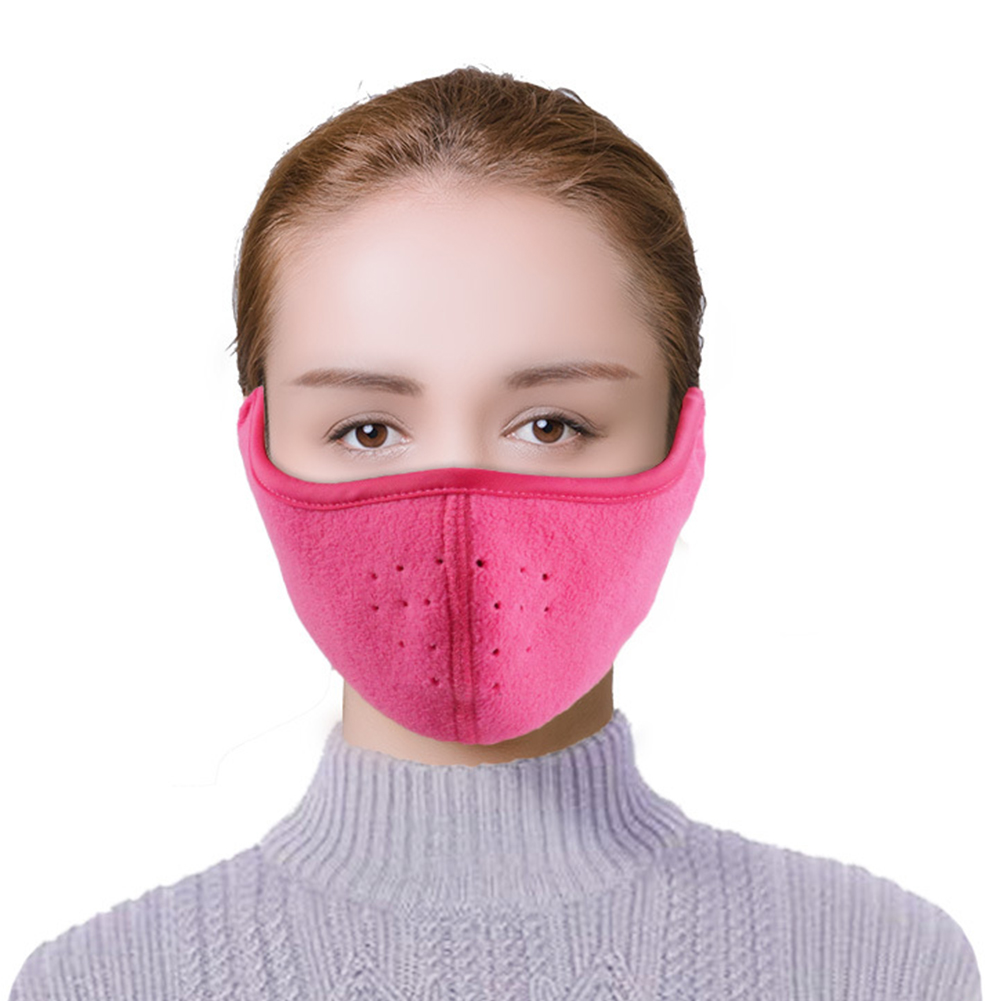 Men Women Fall Winter Binaural Warm Mask Sports Thermal Cycling Earmuffs Hiking Soft Outdoor Ski Riding Half Face Comfortable