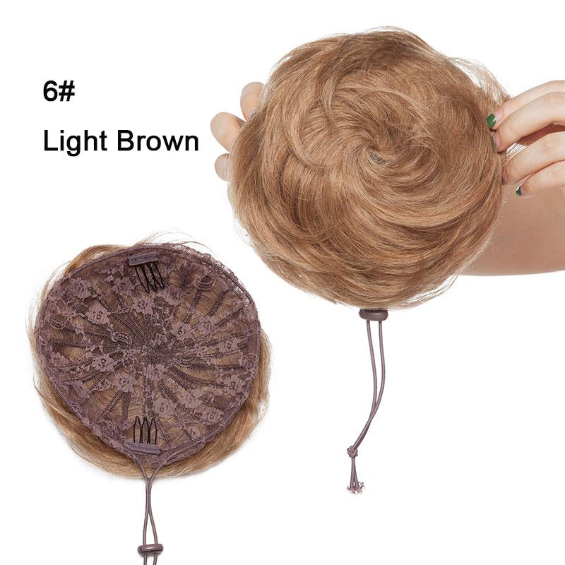 chignon para mulher não-remy bun cabelo peças
