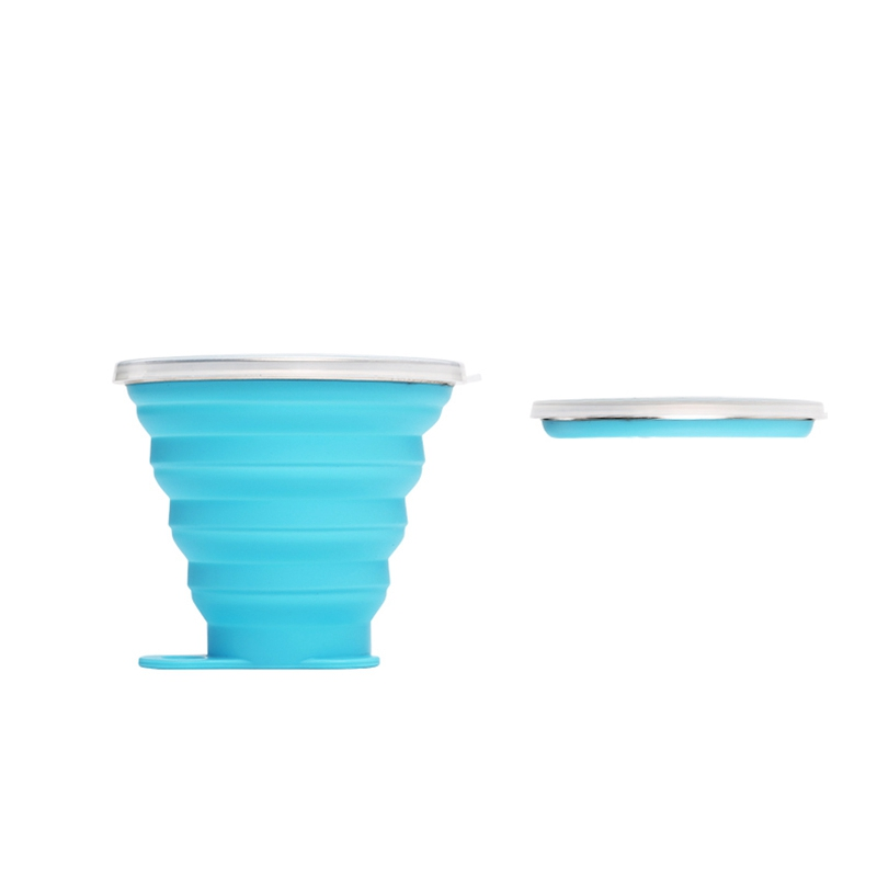 Outdoor Camping Exquisite Folding Cup 270ML Large Capacity Silicone Folding Creative Telescopic Sports Bottle|Sports Bottles| |  - title=