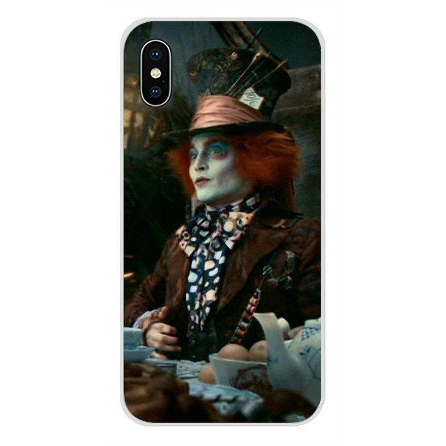 Alicja w krainie czarów szalony kapelusznik Johnny Depp niestandardowy futerał na Apple iPhone X XR XS 11 pro MAX 4S 5S 5C SE 6S 7 8 Plus ipod touch 5 6