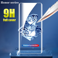 Tempered Glass 9H For Huawei honor 9X 9X Pro 8X 8A 8C 8S v20 v30 10 20 10i 20i 10 20 Lite Screen Protector Protective Glass film 2 in 1 full cover 9d tempered glass for huawei honor 9x 9x pro 8x 8a 8c 8s v20 v30 10 20 10i 20i 10 20 lite screen protector