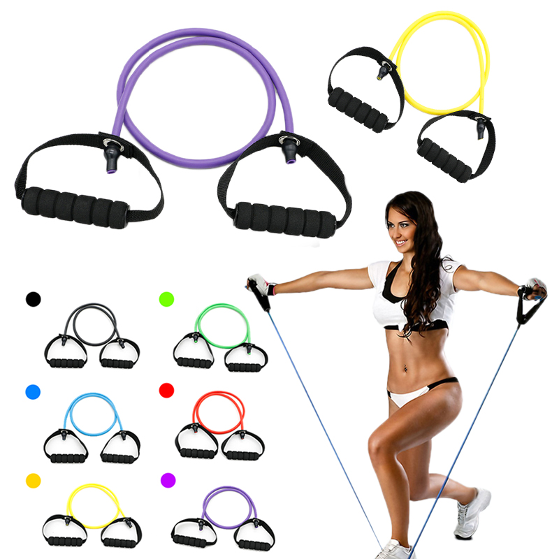 1PC Yoga Pull Rope Elastic Resistance Bands Fitness Pedal Exerciser Tube Practical Training Rubber Tensile Expander