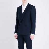 S 6XL!!2019 Men's suit pajama collar suit double breasted gentleman British style