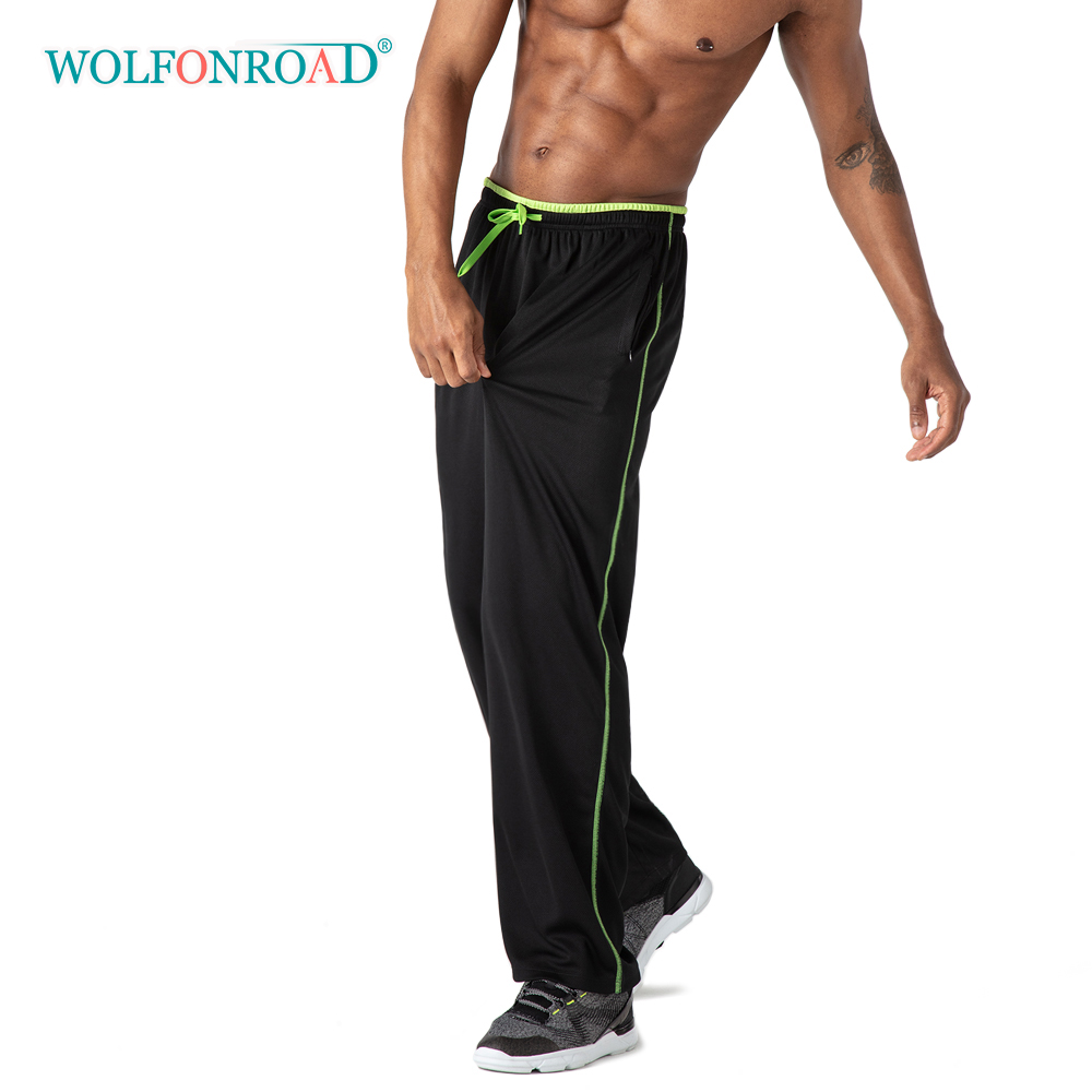 running - WOLFONROAD Breathable Mesh Fabric Men's Sport Pants Sweatpants Gym Fitness Yoga Running Pants Trousers Men Jogger Casual Pants