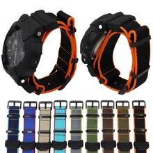 Нейлоновый холщовый ремень ремешок для наручных часов с оптическими зумом Casio G-SHOCK GA-110/100/120/150/200/400 GD-100/110/120 DW-5600 GW-6900 браслет на запястье