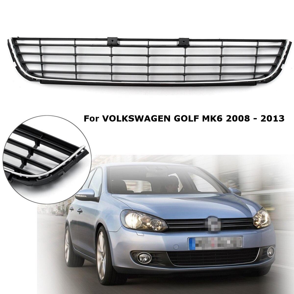 VW Polo 6R MK5 Front Lower Centre Bumper Grille Vent Panel Black Chrome Trim