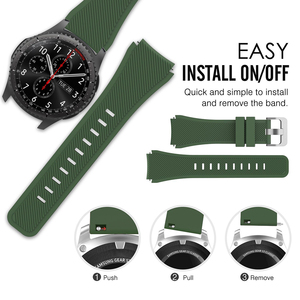 Ремешок силиконовый для Samsung Galaxy Watch 46 мм/Gear S3 Frontier/Huawei Watch GT GT2 46 мм/Huami Amazfit GTR 47 мм, 22 мм