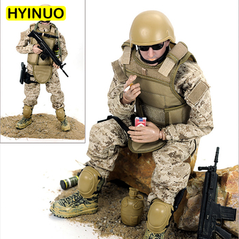 1/6 Scale Camouflage Plastic Eating Chicken Toy Gun Military Model Action Figure Set Sculpt Model 12' Full Set Action Figure Toy image