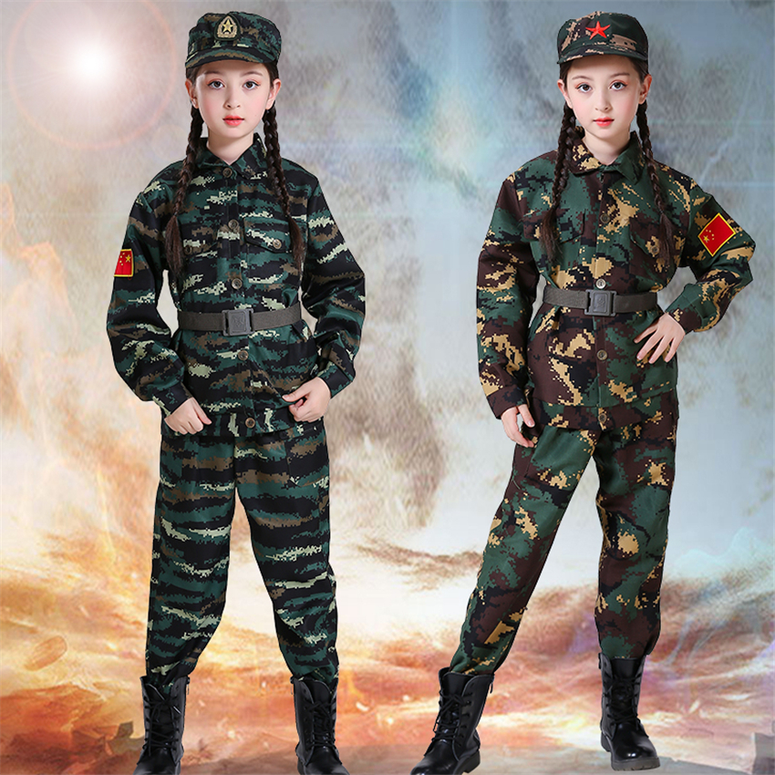 Army Girl Military Uniform  Flight Soldier Costume Ladies FBI Fancy Dress