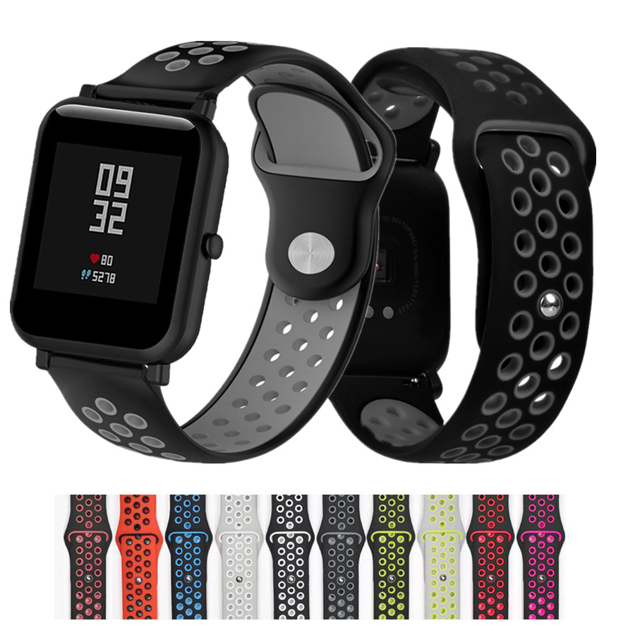 20mm Silicone Sport Band for Samsung Galaxy Watch Strap 42mm Huami <font><b>Amazfit</b></font> BIP Strap for Galxy Watch Wristband image