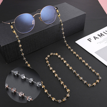 Crystal-Beaded-Lanyards Straps Glasses Chain Cords Neck-Holder-Accessories Teamer Women