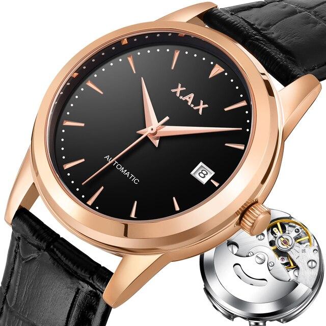 X.A.X 스위스 디자인 자동 기계식 시계 자동 바람 자동 시계 남자