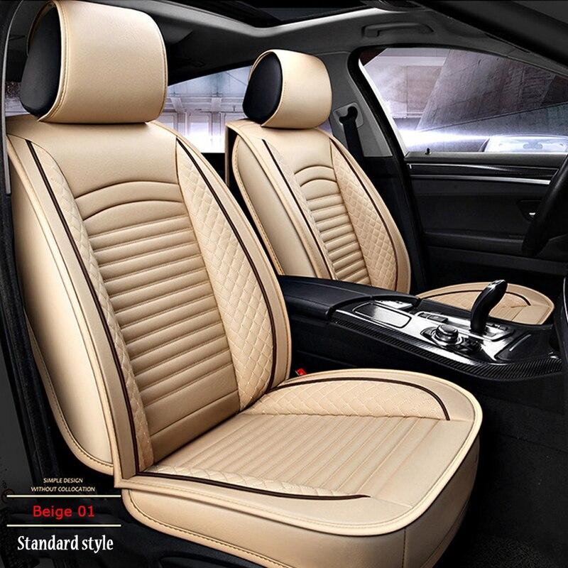 Seat-Cover Interior Fit Automobiles Universal Waterproof Brand PU Luxury