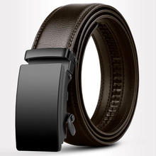 Jeans Belts Business-Belt Automatic Buckle Genuine-Leather Famous Luxury for Trademark