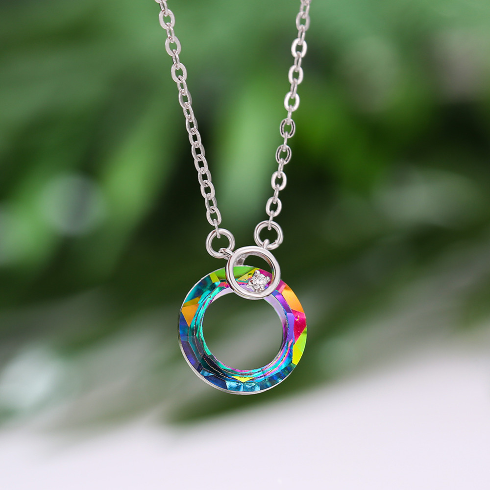 Necklaces Jewelry Gifts Pendants Fashion Women Jewelry Rainbow Pendant Chain Chocker Necklace Party Prom Collares De Moda